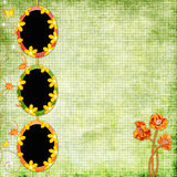 Spring background with frames Royalty Free Stock Photography