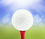 Spring background with a golf ball Stock Photo