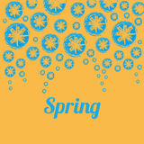 Spring Background. Illustration depicting the Spring flowers Stock Photo