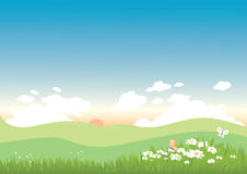 Spring Background landscape Stock Photos