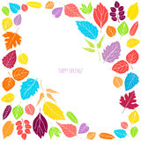 Spring background with leaves. Royalty Free Stock Image