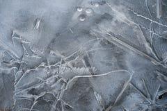 Spring background - meltinh and cracking ice Royalty Free Stock Photo