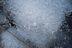 Spring background - meltinh and cracking ice Stock Photo