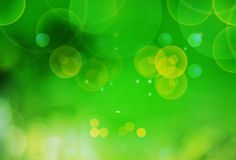 Spring background. Natural green blurred background with round light Stock Photography