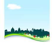 Spring background with Rome skyline Stock Images