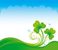 Spring background with shamrock Royalty Free Stock Photos
