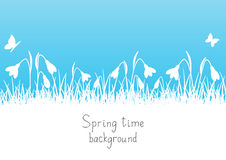 Spring background with snowdrops Stock Photography