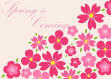 Spring background. Spring is coming. Vector illustration. eps 10 Royalty Free Stock Photo