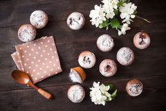 Spring background with tasty cakes Royalty Free Stock Photo