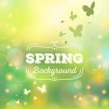 Spring background vector illustration Stock Photos