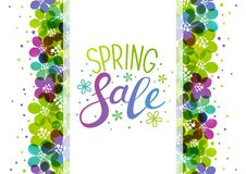 Spring background with vibrant flowers. Border Stock Photography