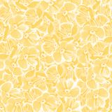 Spring background with yellow flowers. vector seamless pattern. floral repetitive background. textile paint. fabric swatch. vector illustration