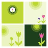 Spring backgrounds. Set of fresh spring templates Royalty Free Stock Photography