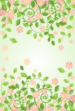 Spring banner with apple-tree blossom Stock Photos