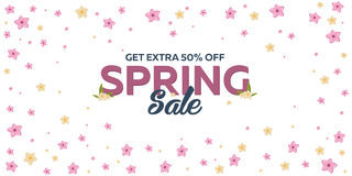 Free Spring Banner. Background With Sacura. Vector Illustration. Royalty Free Stock Images - 88217039