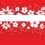 Spring banner with flowers Stock Images