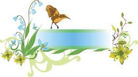 Spring banner op vector illustratie