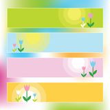 Spring banners. With copy space Royalty Free Stock Photo