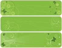 Spring banners. Set of the vector spring banners in green color Royalty Free Stock Photo