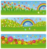 Spring banners.  Royalty Free Stock Photo