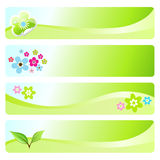 Spring banners. Four spring banners for web or print usage Stock Photos
