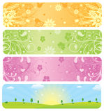 Spring Banners. High detail illustration of spring banners Royalty Free Stock Photography