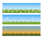 Spring banners. Illustration of a set of three spring banners isolated on white.EPS file available Royalty Free Stock Photo