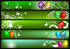 Spring banners with eggs Stock Images
