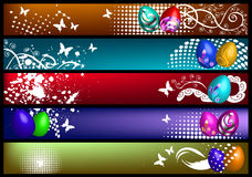 Spring banners with eggs Stock Image