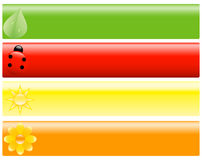 Spring Banners or Headers for Design Stock Photo