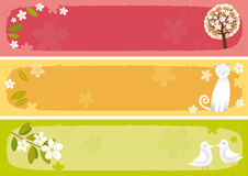Spring banners horizontal Stock Photos