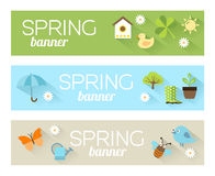 Spring Banners Stock Photography