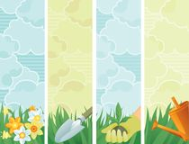 Spring banners Stock Image