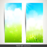 Spring banners Royalty Free Stock Photo