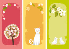 Spring banners vertical Royalty Free Stock Photography