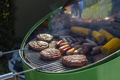 Spring Barbecue bbq in Luxembourg Stock Photos