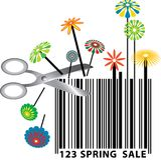 Spring barcode stock photo