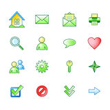 Spring basic web icons set Stock Photo