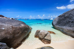 Spring bay at Virgin Gorda, BVI Stock Photos