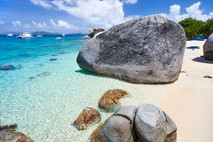 Spring bay at Virgin Gorda, BVI Royalty Free Stock Photo