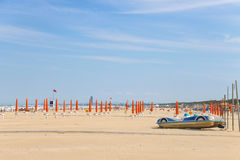 Spring beach. Preparing for the season. Cervia, Italy Stock Photo