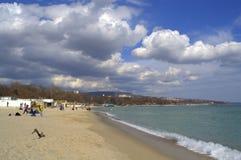 Spring beach view Stock Photo