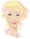 Spring beautiful woman Royalty Free Stock Photos