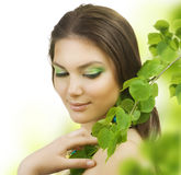 Spring Beauty. Beautiful Young Woman portrait. Healthy skin Royalty Free Stock Photo