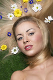 Spring beauty girl Stock Photography