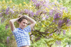 Spring beauty girl outdoors. Royalty Free Stock Images