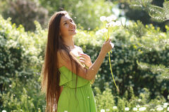 Spring Beauty Girl Stock Photo