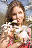 Spring beauty in nature with flowers. Stock Image