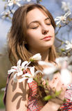 Spring beauty in nature with flowers. Royalty Free Stock Photography