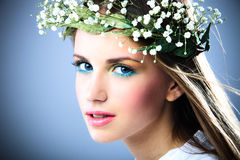 Spring beauty teen girl Stock Images
